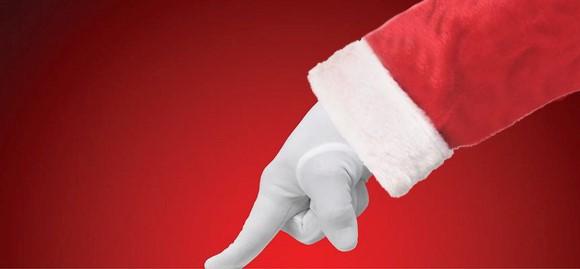 Santa White glove