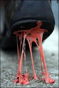 gum-on-bottom-of-shoe
